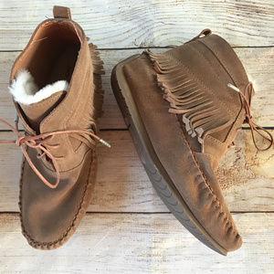SALE❣️EMU Australia Suede Mocassin Fringe Boots 10